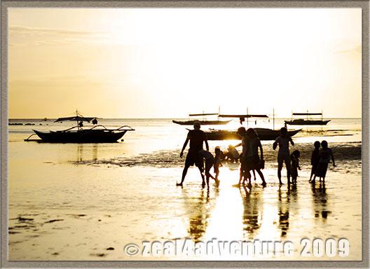 children-sunset
