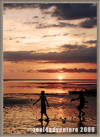 sunset-children