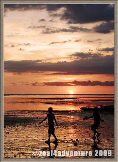 sunset-children