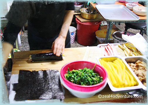 making-gimbap
